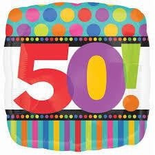 50th Foil Balloon | 50th themes and supplies