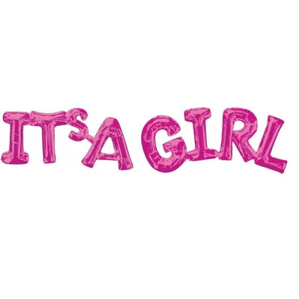 It's a Girl Balloon Banner | Baby Shower Balloons