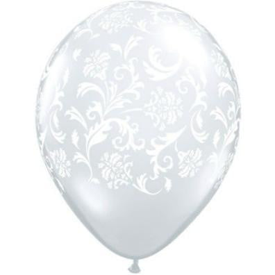 Qualatex | Diamond Clear Damask Print Balloon