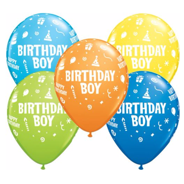 Qualatex | Birthday Boy Balloon | Helium Balloons Wellington