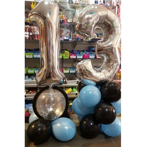 Customised Large Foil Balloon Number Decoration (ages 10-19)