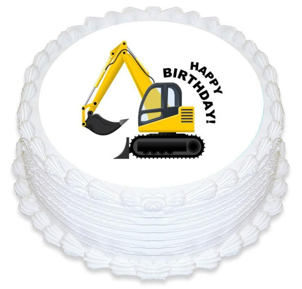 Digger Edible Cake Image | Construction Party