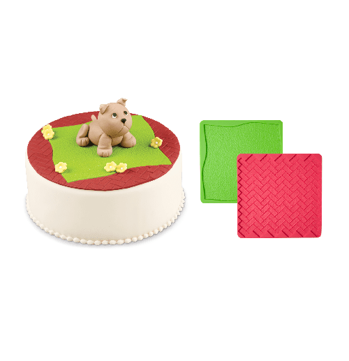 Wilton | Texture Mat Set | Animal Party Theme and Supplies