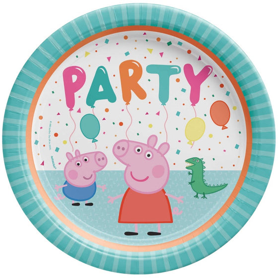 Peppa Pig Confetti Party Plates - Dinner