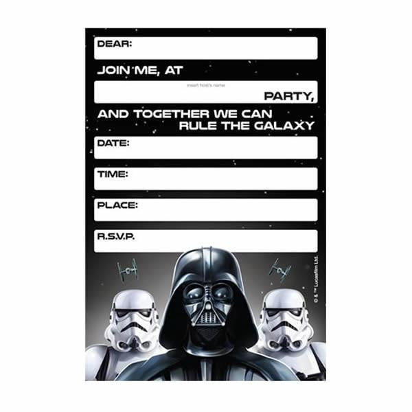 Disney | Star Wars Darth Vader Invitations | Star Wars Party Theme & Supplies