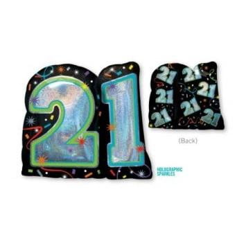 Anagram | 21st Birthday Holographic SuperShape Foil Balloon