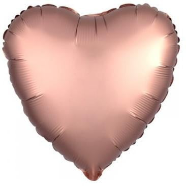 Anagram | Satin Luxe Rose Gold Heart Foil Balloon |  RoseGold Heart Balloon