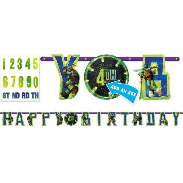 Teenage Mutant Ninja Turtle Banner | Teenage Mutant Ninja Turtle Party