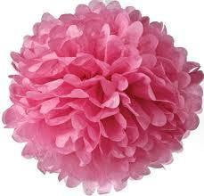 Pink Tissue Pom Pom | Baby Shower Party Themed and Supplies