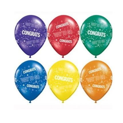 Qualatex | Congrats Way to Go Balloon