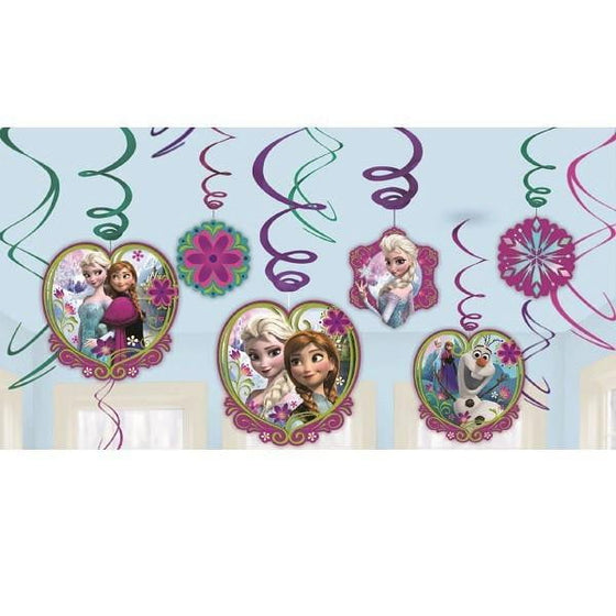 Frozen Hanging Swirl Decorations | Frozen Party Supplies