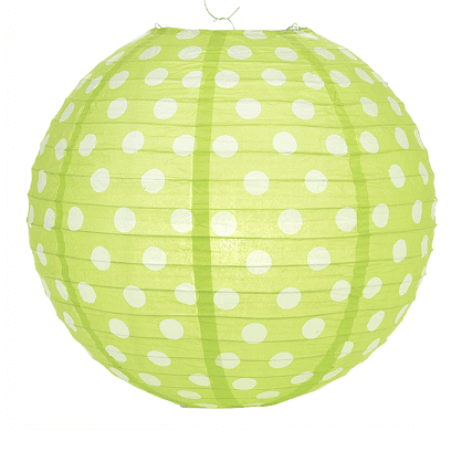 Green Polka Dot Lantern | Green Party Decorations