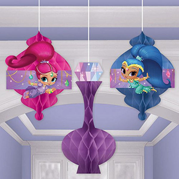 Shimmer and Shine Honeycomb Decorations | Shimmer and Shine Party