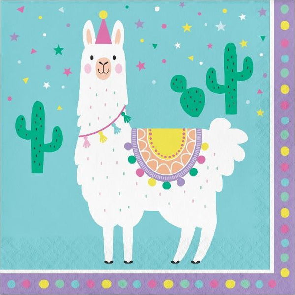 Amscan | Llama Party Napkins - Lunch | Llama Party Theme & Supplies