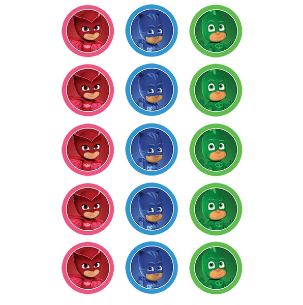 PJ Masks Edible Cupcake Topper | PJ Masks Cake | PJ Masks Party Supplies