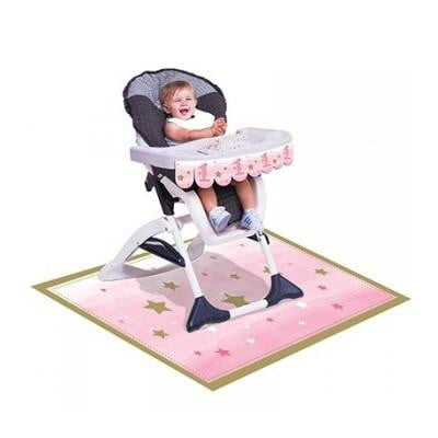 Party Creations | One Little Star Pink High Chair Decoration Kit