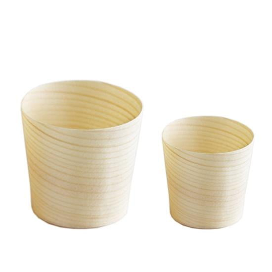 Wooden Serving Cups | Eco Party Theme & Supplies