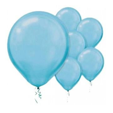 Amscan | Value Balloons Pack of 15 - Pearl Caribbean Blue