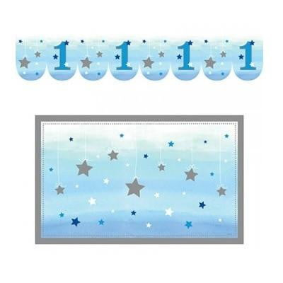 Party Creations | One Little Star Blue High Chair Decoration Kit