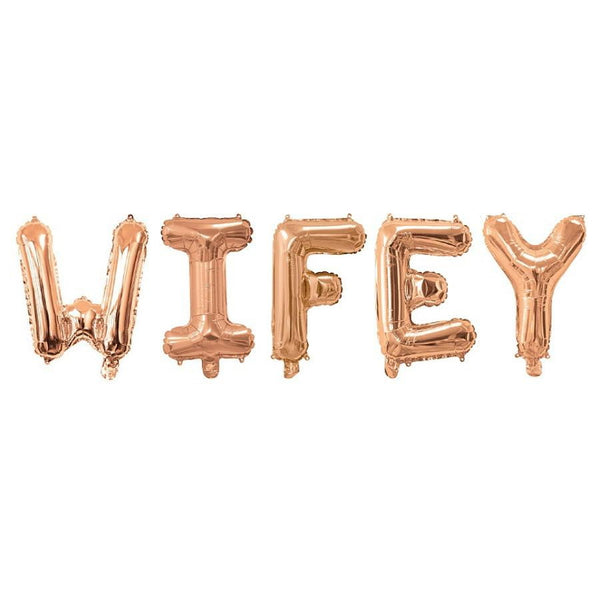 Rose Gold Wifey Balloon Banner | Bridal Shower Decorations