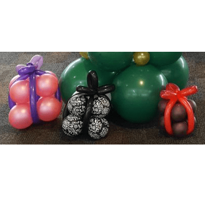 Present Balloon Decoration | Christmas Party Decorations