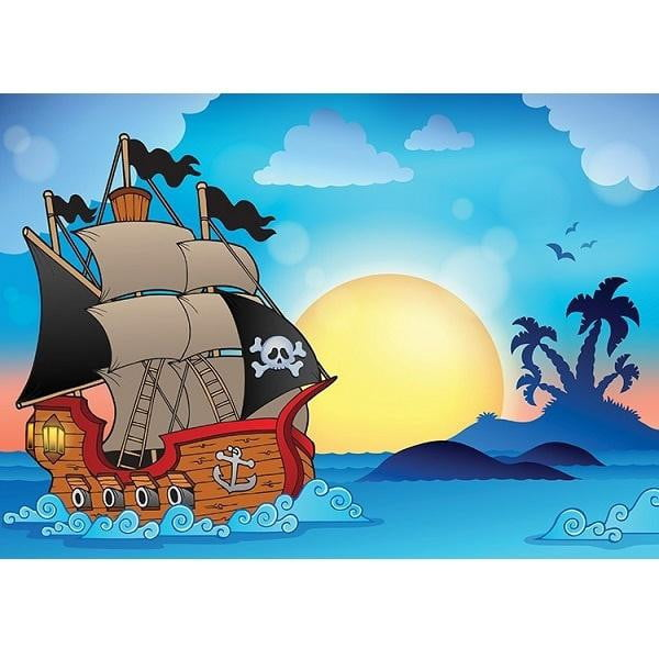 Pirate Ship Edible Cake Image - A4 Size