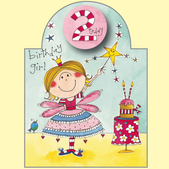 Rachel Ellen | Girl's 2nd Birthday Card | Girl's 2nd Birthday