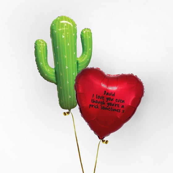 Cactus Personalised Foil Duo by Pop Balloons