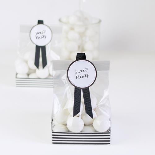 Paper Eskimo Treat Bag Set - Black Tie