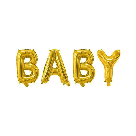 Gold Baby Balloon Banner | Baby Shower Decorations