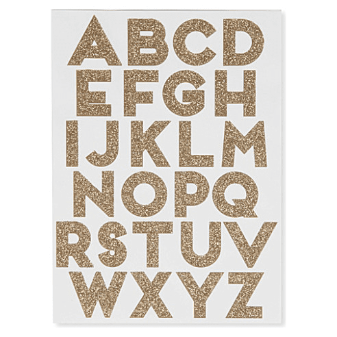 Meri Meri | Gold Alphabet Stickers | Kids Birthday Party Supplies