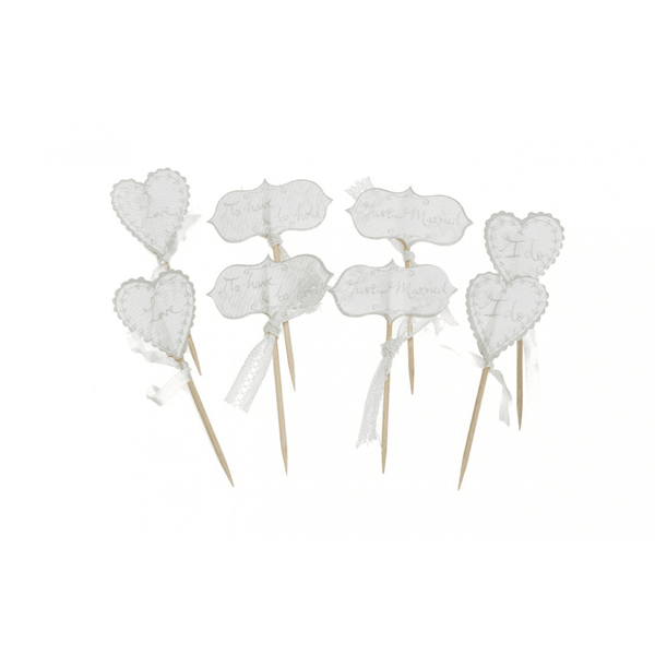 Heart Cupcake Topper | Wedding Supplies