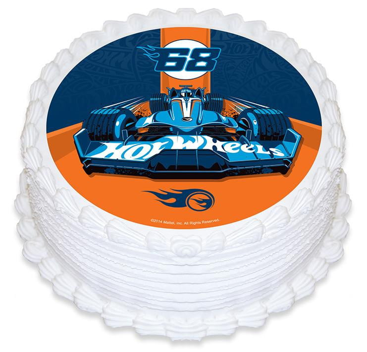 Hot Wheels Edible Cake Image Build A Birthday