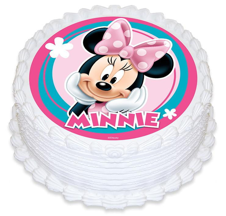 Minnie Mouse Edible Cake Image Build A Birthday
