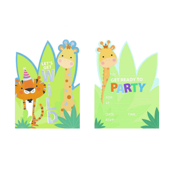 Jungle Animal Invitations | Jungle Animal Party Supplies