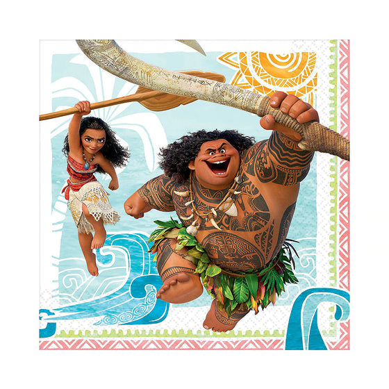 Moana Lunch Napkins | Moana Party Supplies
