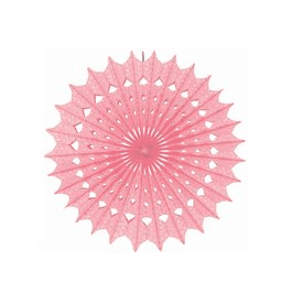 Pink Paper Fan Decoration | Pink Party Theme and Supplies
