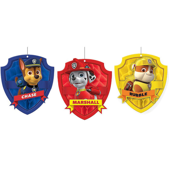 Paw Patrol Honeycomb Decorations | Paw Patrol Party Supplies
