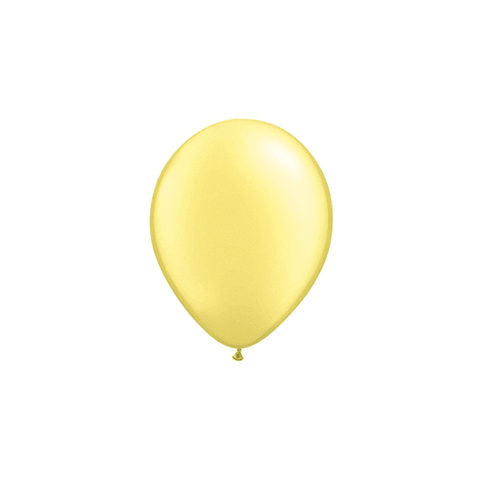 Qualatex | Pearl Lemon Chiffon Mini Balloon | Baby Shower Supplies