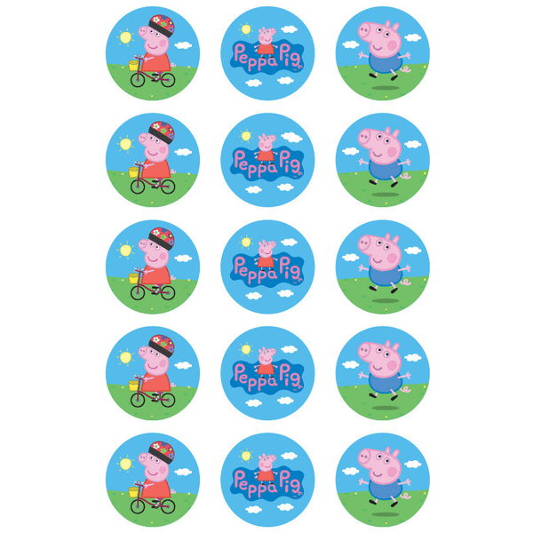 Peppa Pig Cupcake Decorations | Peppa Pig Party
