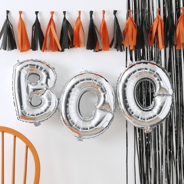 Boo Halloween Banner | Boo Letter Balloons | Halloween Decorations
