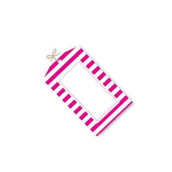 Sambellina | Raspberry Stripe Tags | Pink Party Supplies