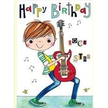 Rachel Ellen | Rock Star Card | Music Party Theme and Supplies