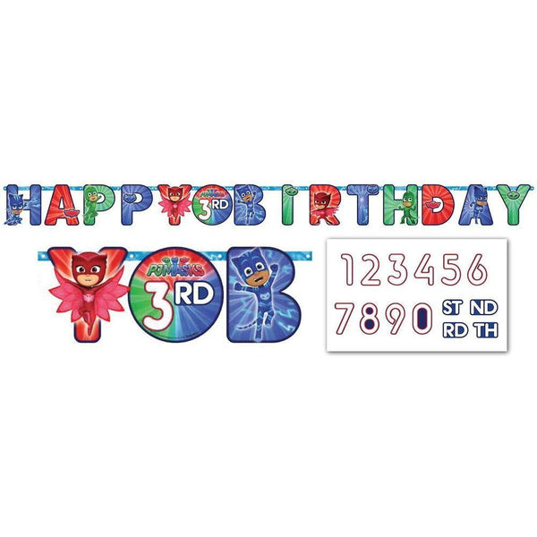 PJ Masks Birthday Banner | PJ Masks Party Supplies
