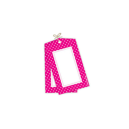 Sambellina | Pink Spot Party Tags | Pink Party Supplies