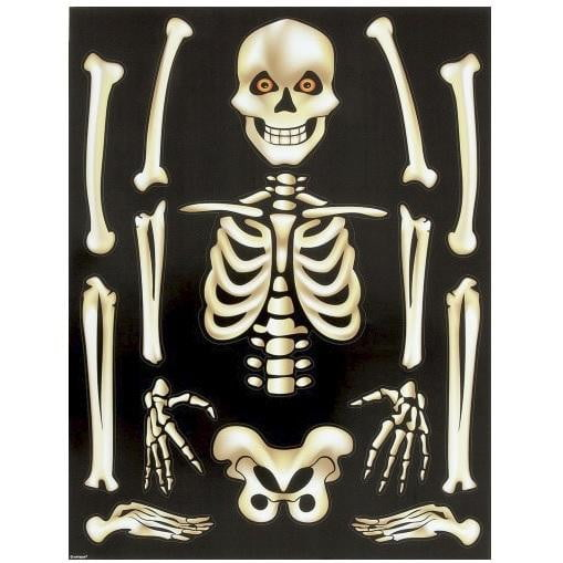 Skeleton Window Clings | Halloween Party Theme & Supplies