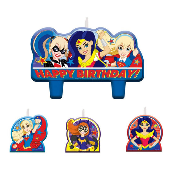 DC Super Hero Girls Birthday Candles | Superhero Girls Cake Decorations