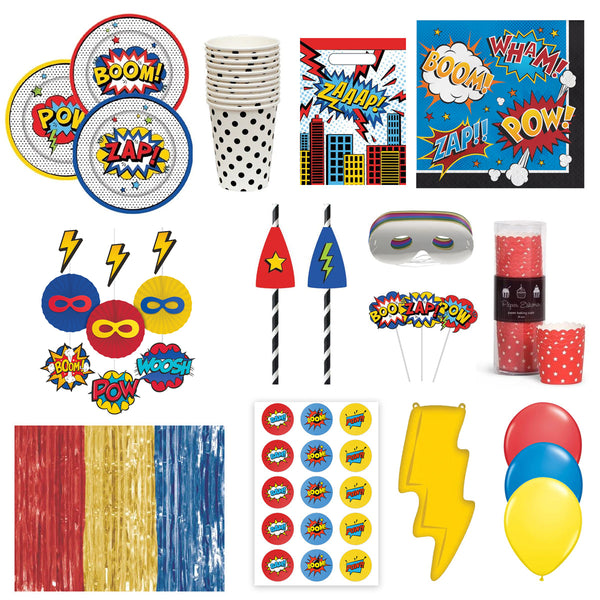 Jazabaloo Superhero Fans Bunting Flags
