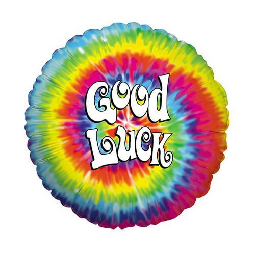 Retro Tye Dye Good Luck Foil Balloon
