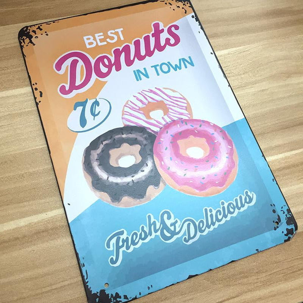 Vintage Donut Wall Sign